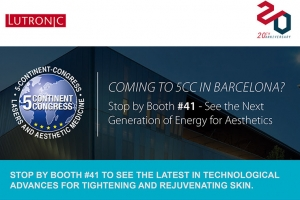 [LUTRONIC] See the Next Generation of Energy for Aesthetics at 5CC Booth #41 in Barcelona